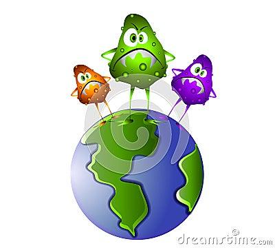 Superbug Germs on The World
