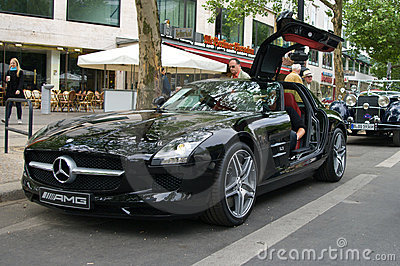 Supercar Mercedes-Benz SLS AMG Editorial Photo