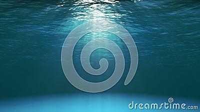 Superficie blu scuro dell'oceano veduta da underwater (video 4k) archivi video