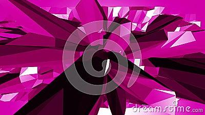 Superficie que agita polivinílica baja violeta o púrpura como ambiente decorativo Ambiente vibrante geométrico violeta o el pulsa almacen de metraje de vídeo