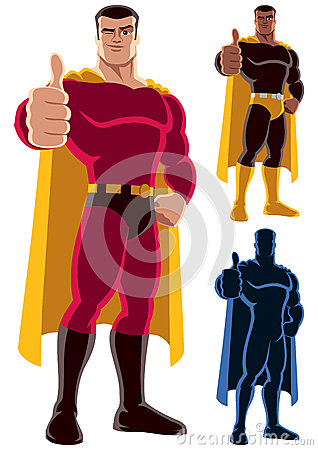 Free Superhero Approving Royalty Free Stock Images - 47898969