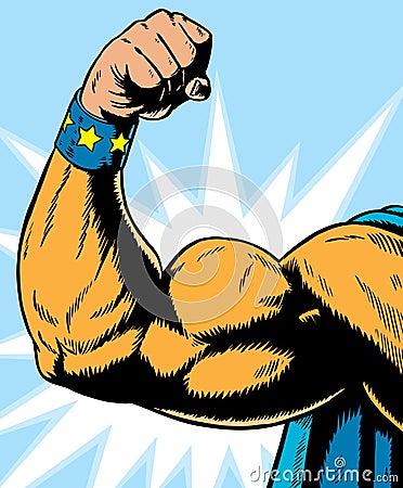 Free Superhero Arm Flexing. Stock Image - 14842341