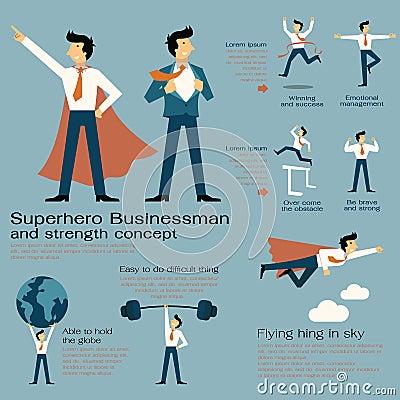 Free Superhero Businessman Royalty Free Stock Photo - 46261025