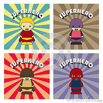 Superhero cartoon character Vector Illustration