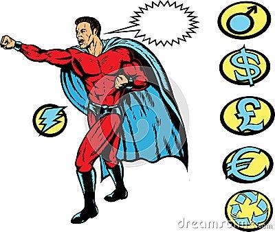 Superhero clobber!