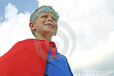 Superhero in Clouds