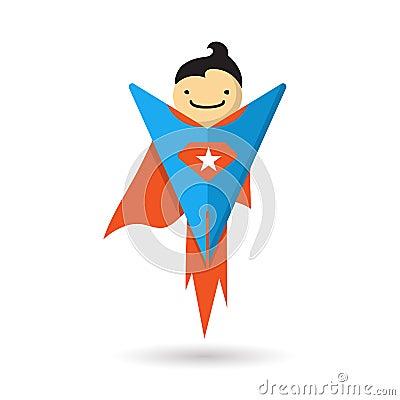 Superhero Flying. Vector Illustration Stock Vector - Image: 44672524 Superhero Flying Vector
