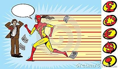 Superhero girl runner