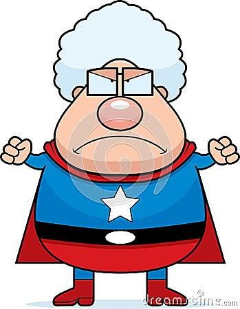 granny grandma mad cartoon