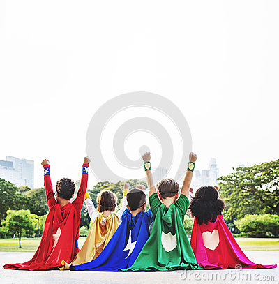 Free Superhero Kids Aspiration Imagination Playful Fun Concept Royalty Free Stock Photography - 71498257