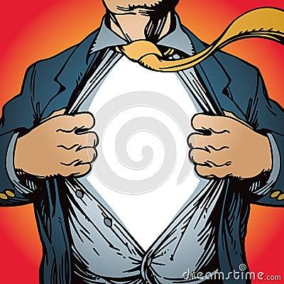 Free Superhero Opening Shirt Royalty Free Stock Photo - 23287185