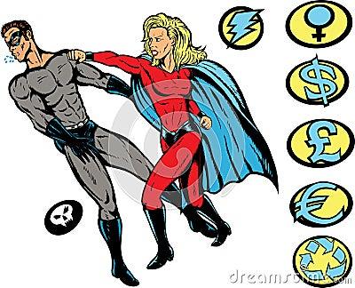 Superhero punch!