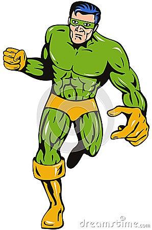 Superhero running