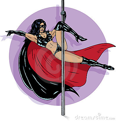 Free Superhero Stripper Stock Images - 14203794