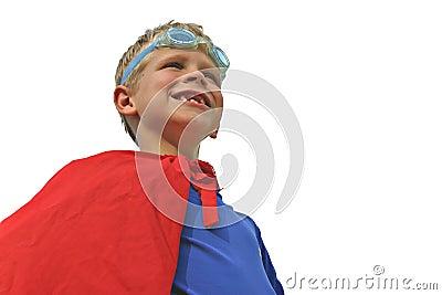 Superhero on White