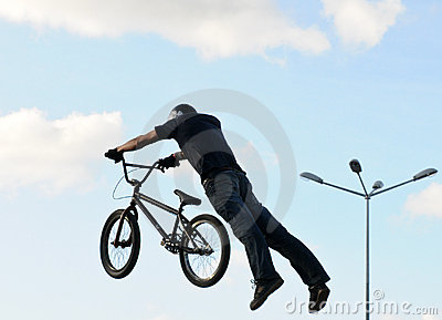 Superman at bmx dirt competition Editorial Photo