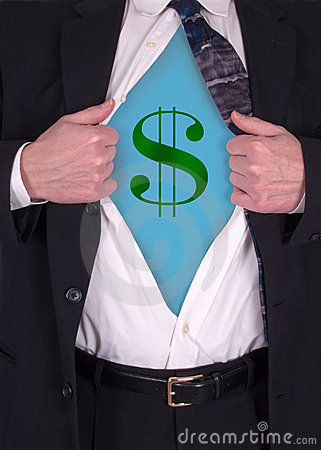 Superman Businessman, Power of Money and Economy