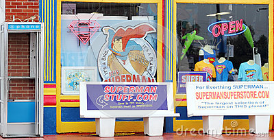 Superman Gift Shop Editorial Stock Photo