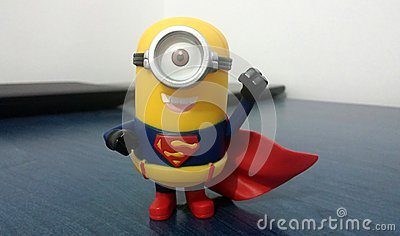Superman Minion Editorial Stock Photo