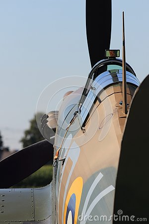 Second world war II spitfire from behind
