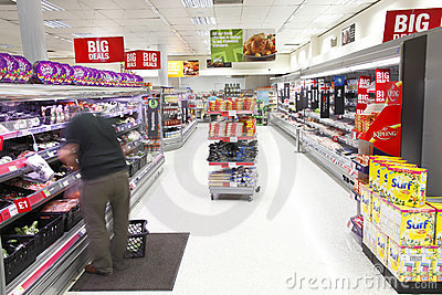 Supermarket  Editorial Stock Image