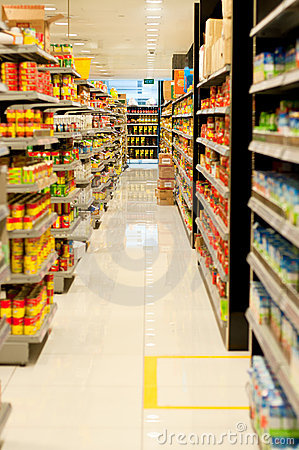 Free Supermarket Aisle Royalty Free Stock Photo - 20866765