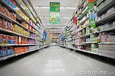 Supermarket Aisle Editorial Image