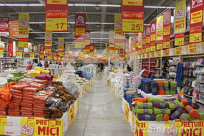 Supermarket Auchan Editorial Stock Photo
