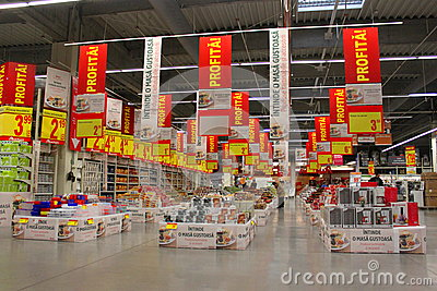 Supermarket Auchan Editorial Photo