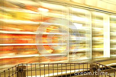 Supermarket Blur Frozen