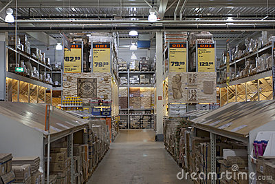 Supermarket DIY with tiles Editorial Stock Image