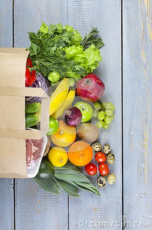 Free Supermarket, Food Basket, Products, Trade, Healthy Food Royalty Free Stock Images - 129641339