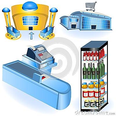 Supermarket icons 2
