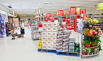 Supermarket people shopping Editorial Stock Image