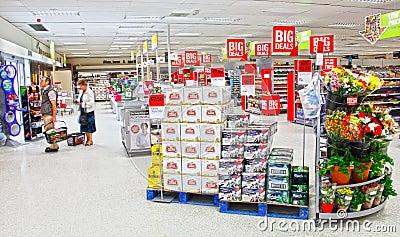 Supermarket people shopping Editorial Stock Image