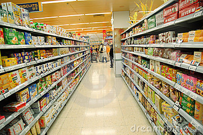 Supermarket perspective Editorial Photo
