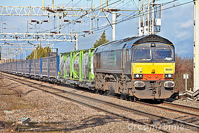 Supermarket rail freight train Editorial Photo