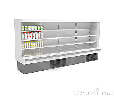 Supermarket Refrigerator isolated on white