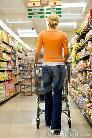 Free Supermarket Shopper Stock Photos - 9674183