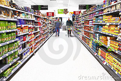 Supermarket shopping Editorial Stock Image