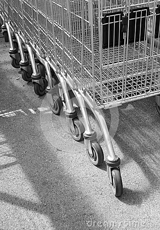Supermarket trolleys