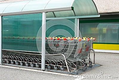 Supermarkt-Laufkatze