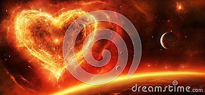 Supernova Nebula Heart Stock Illustration Image 60339206