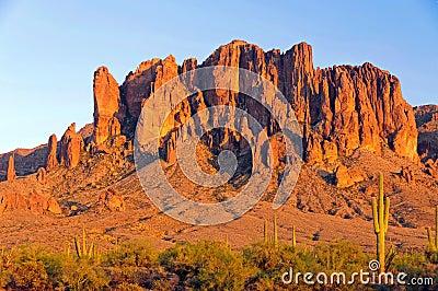 Superstition Mountain in the Arizona desert
