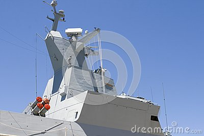 Superstructure of frigate