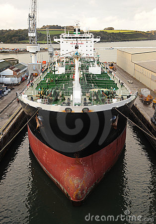 Supertanker in dock