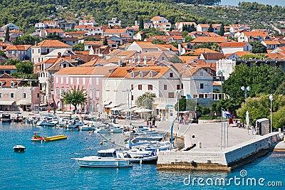 Supetar town harbor