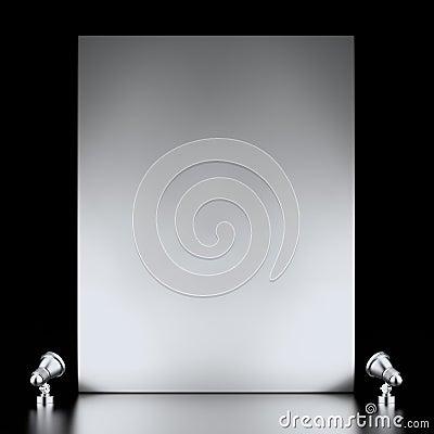 Suporte e lâmpadas da exposição