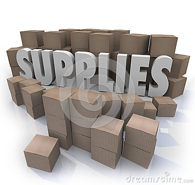 Supplies Cardboard Boxes Food Material Resources Needed Stock Ro
