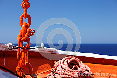 Supplies ship anchor rope and chain